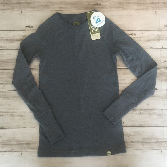 3b226c7370 nui organics Shirts & Tops | Boys Merino Wool Thermal Crew Nwt ...